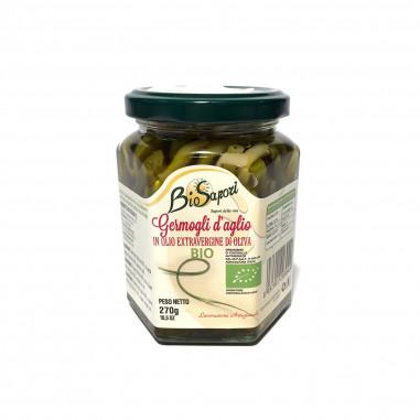 Germogli d'aglio bio sott'olio